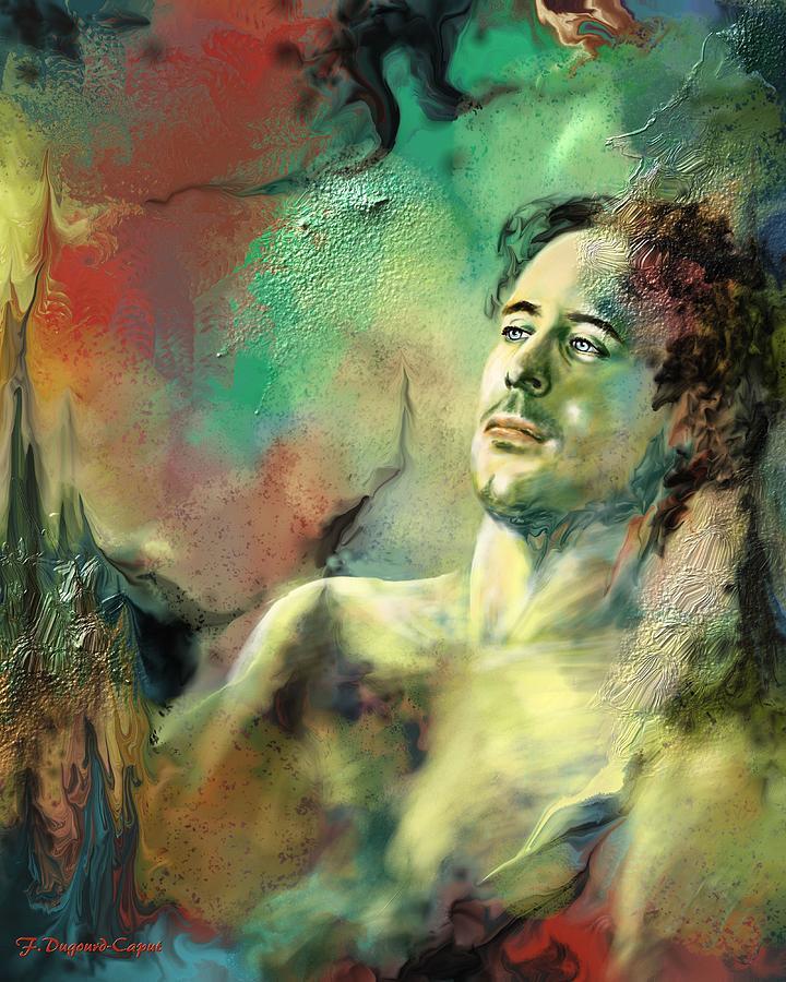 Digital Painting Painting - Apres-midi Du Faune by Francoise Dugourd-Caput