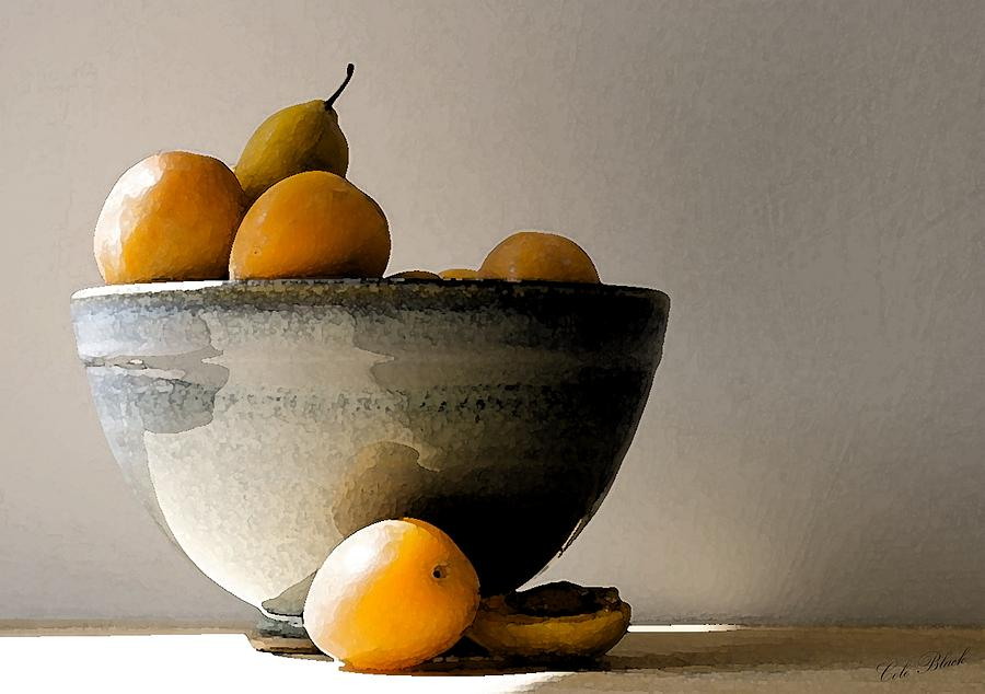 Apricot Painting - Apricot Bowl  by Cole Black