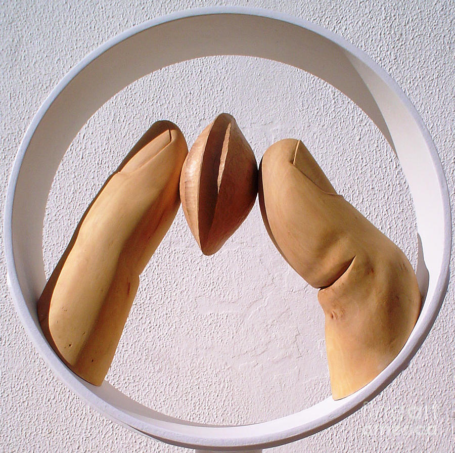 Apricot seed Sculpture by Gyula Friewald