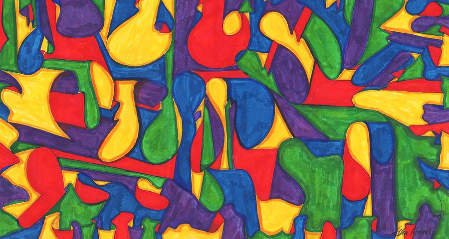 Scribble Painting - April Fool by Ellen Howell