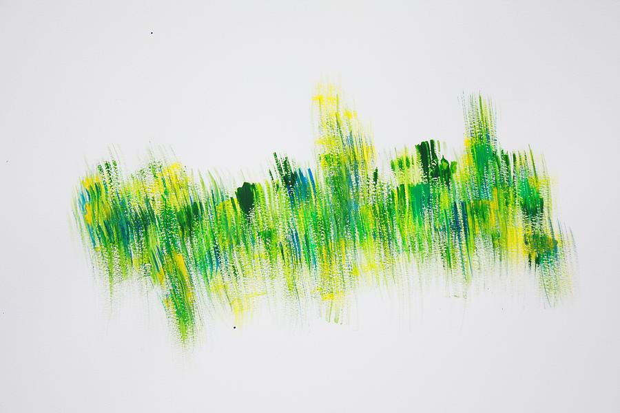 April Painting - April Grass by Tom Atkins