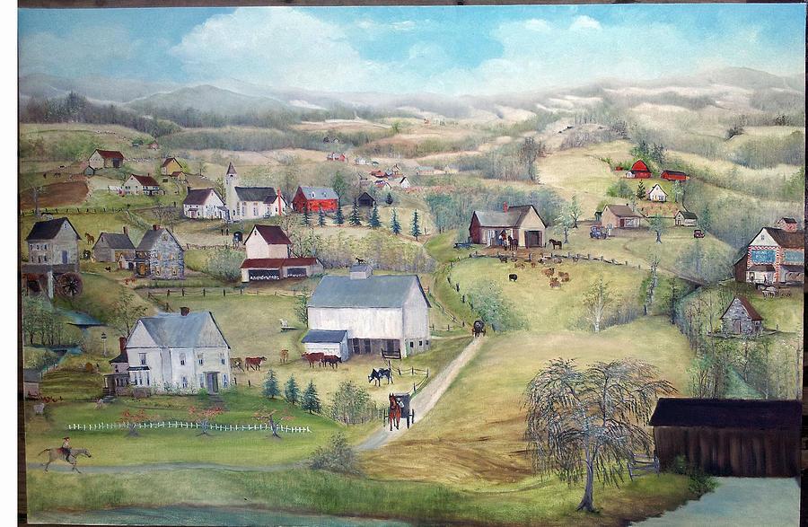 Farm Painting - April Is Delightful by Cheryl Korb