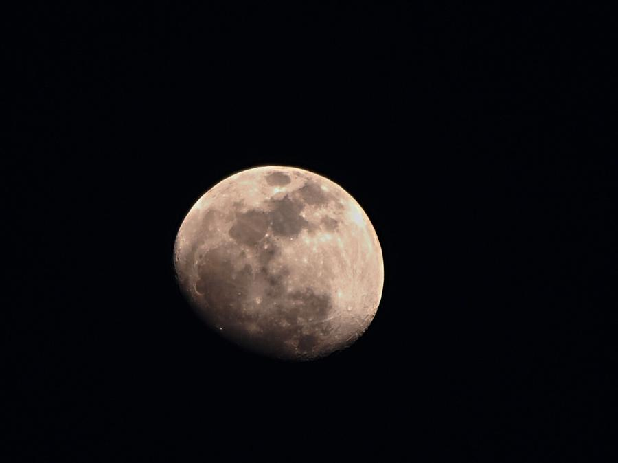 Waxing Gibbous Photograph - April Moon by Valeria Donaldson