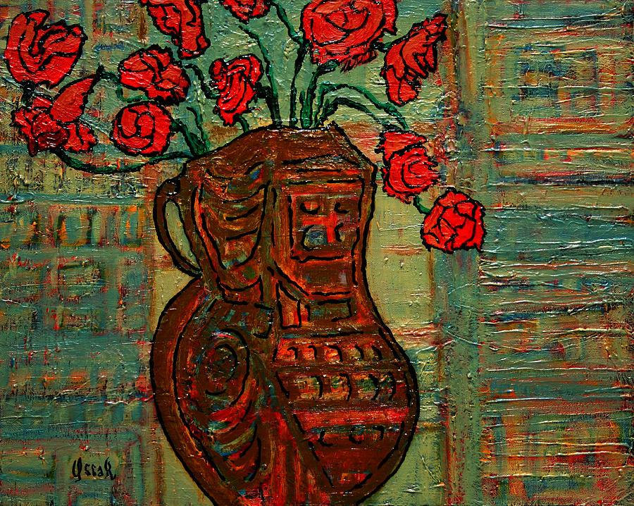 Original Painting - April  by Oscar Penalber