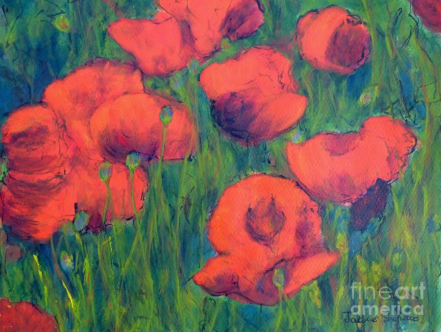 April Poppies 2 by Jackie Sherwood