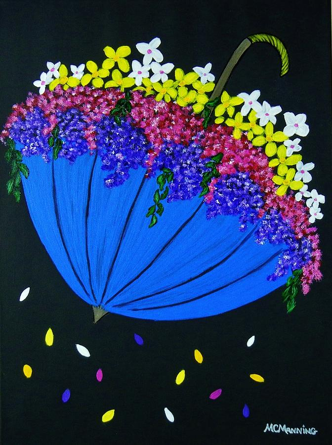 White Flowers Painting - April Showers... by Celeste Manning