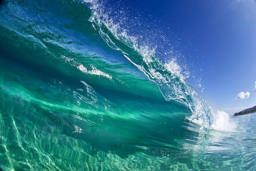 Waves Photograph - Aqua Blade by Sean Davey