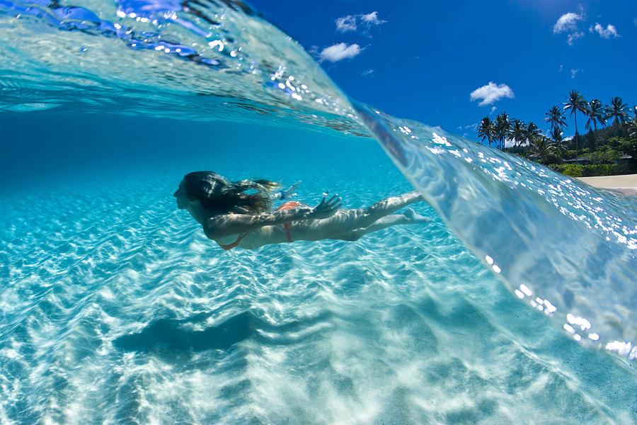Ocean Photograph - Aqua Dive by Sean Davey