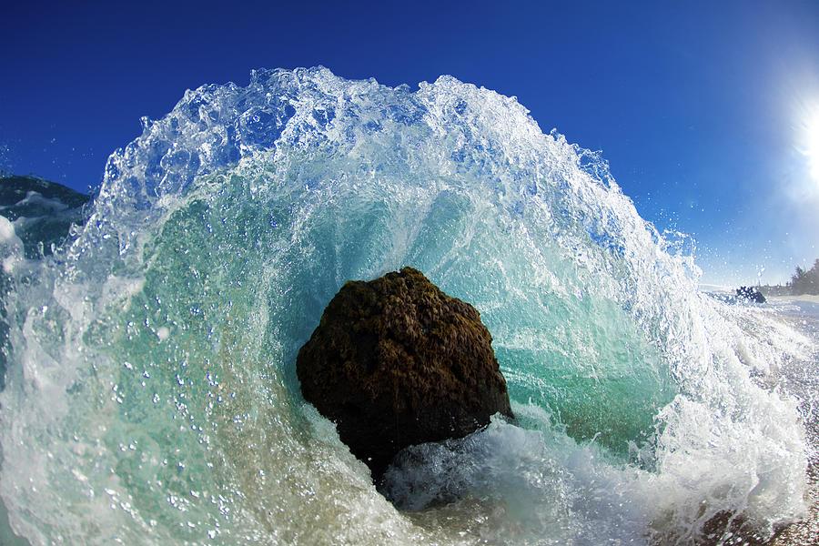Waves Photograph - Aqua Dome by Sean Davey