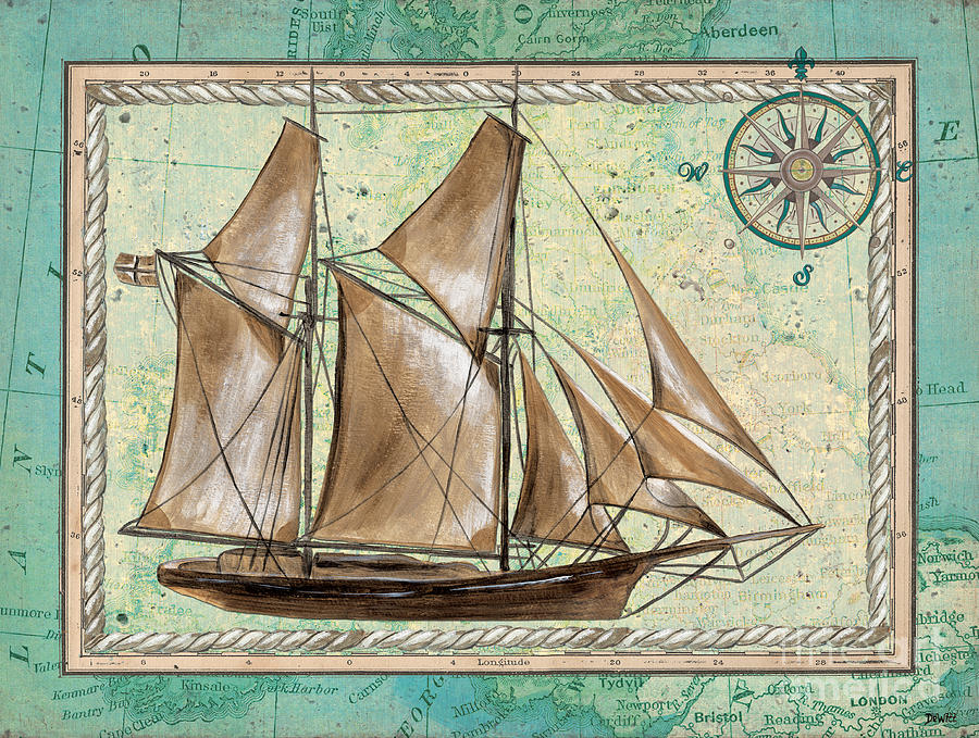 Aqua Painting - Aqua Maritime 2 by Debbie DeWitt