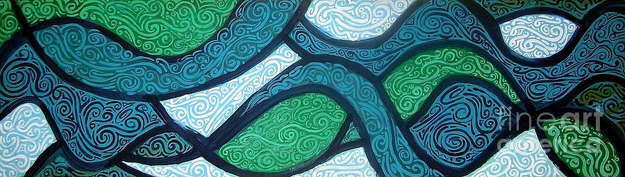 Aqua Painting - Aqua Motion by Genevieve Esson