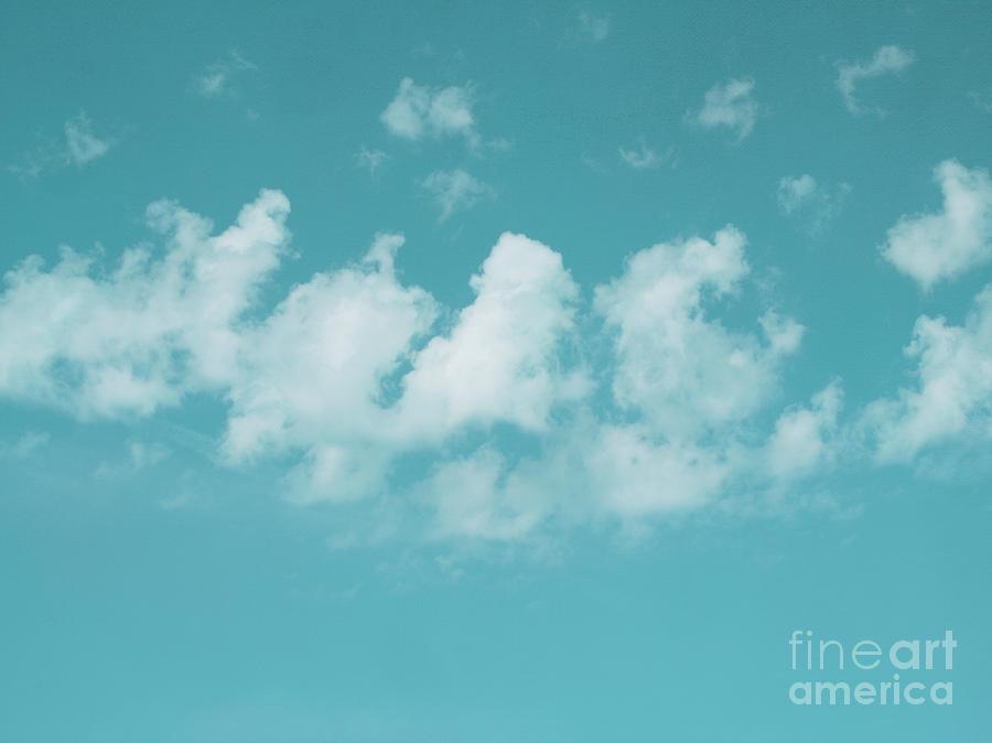 The Sky Photograph - Aqua Sky Meditation by Irina Wardas