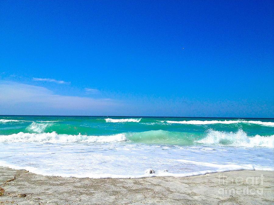 Beach Photograph - Aqua Surf by Margie Amberge