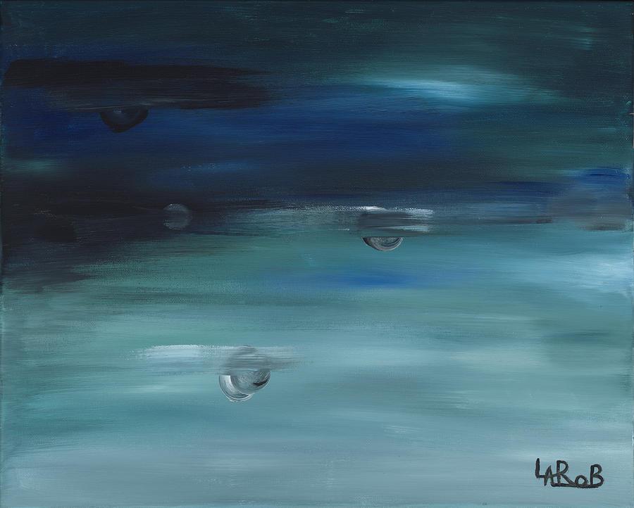 Worlds Painting - Aqua World II by Shirbie LaRob Whitman