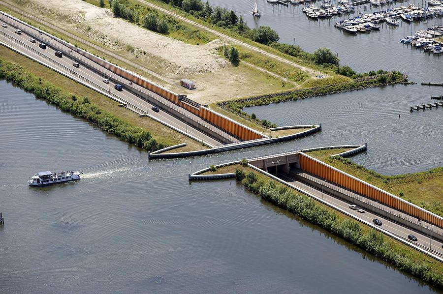 Benelux Photograph - Aquaduct, Harderwijk by Bram van de Biezen