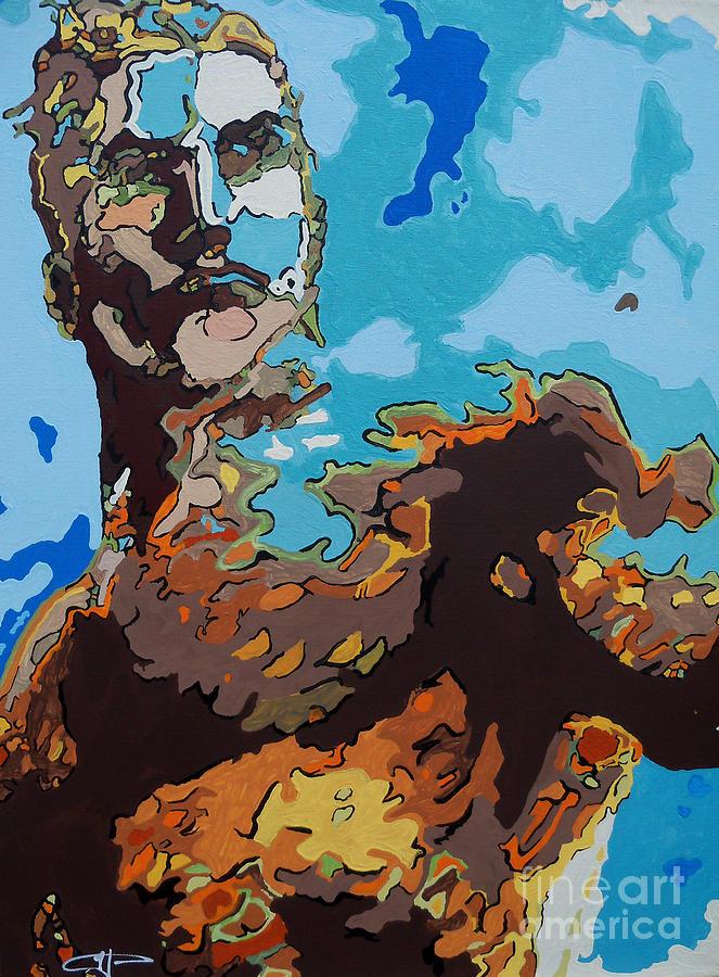 Aquaman Painting - Aquaman - Reflections by Kelly Hartman