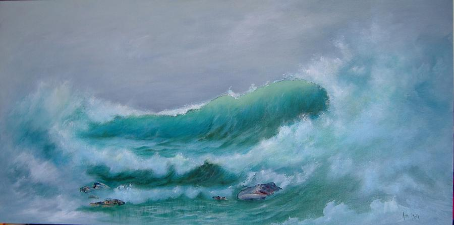 Seascape Painting - Aquamarine by Rita Palm