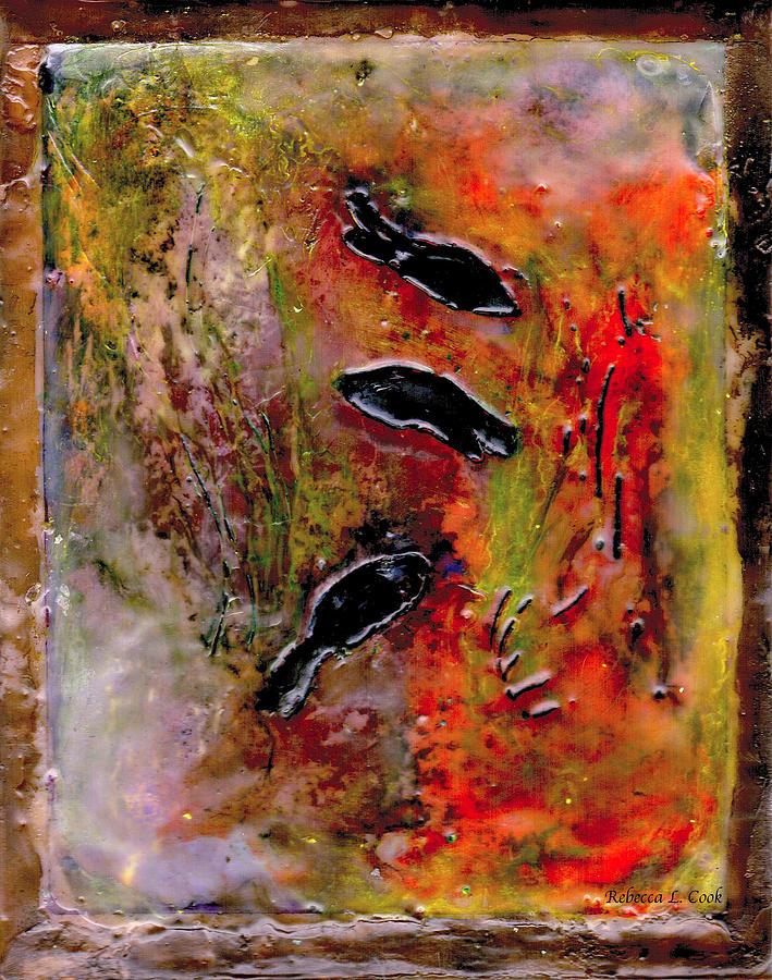 Aquarium Encaustic Painting - Aquarium Encaustic by Bellesouth Studio