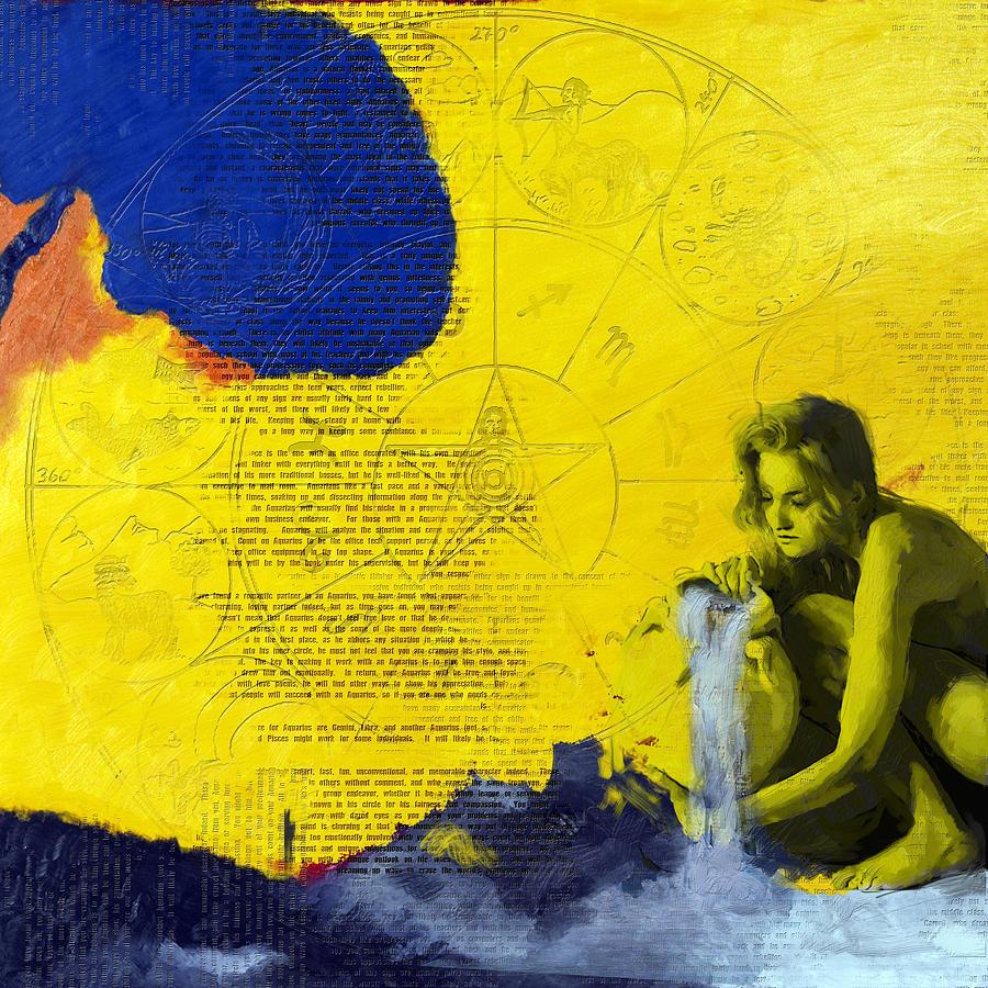 Aquarius Painting - Aquarius Abstract by Corporate Art Task Force