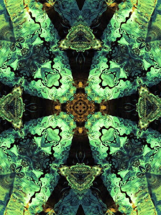Abstract Photograph - Aquatic Lace 10 by Shawna Rowe