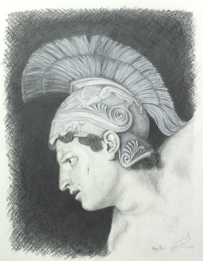 Aquilles Drawing by Miguel Rodriguez