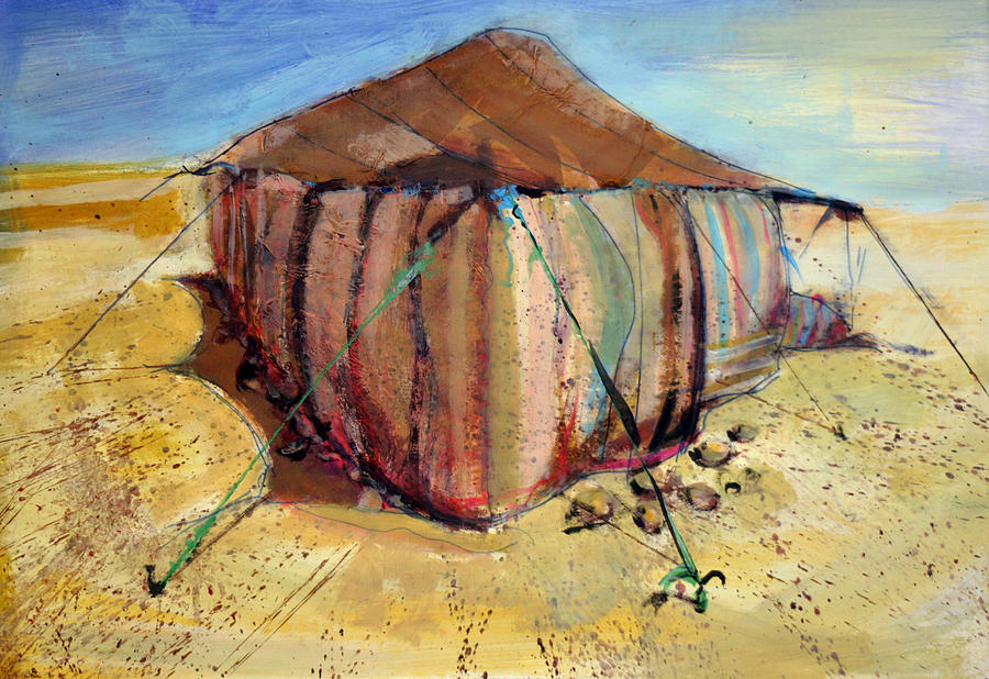 Arab Tent Painting by Tom Smith & Tent Painting by Tom Smith