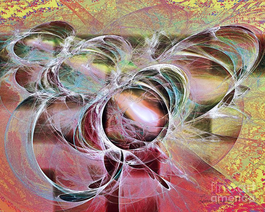 Abstract Digital Art - Arabesque Design by Leona Arsenault
