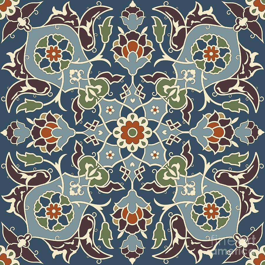 Arabesque Seamless Pattern 03 Digital Art By Pablo Romero