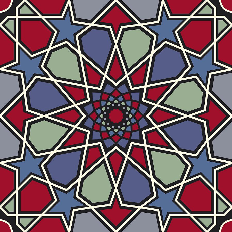 Arabesque Seamless Pattern 08 Digital Art