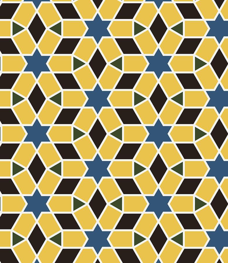 Arabesque Seamless Pattern 10 Digital Art