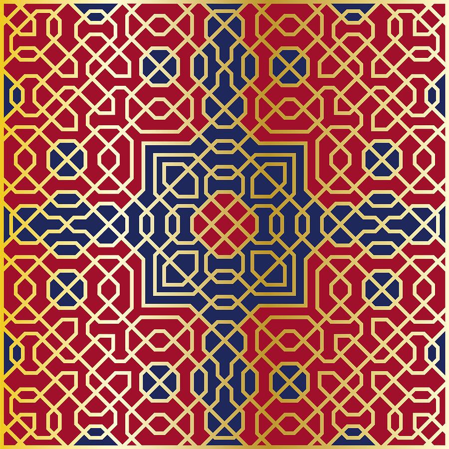 Arabesque Seamless Pattern 11 Digital Art