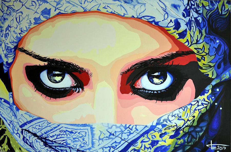 Image result for arabian eyes painting