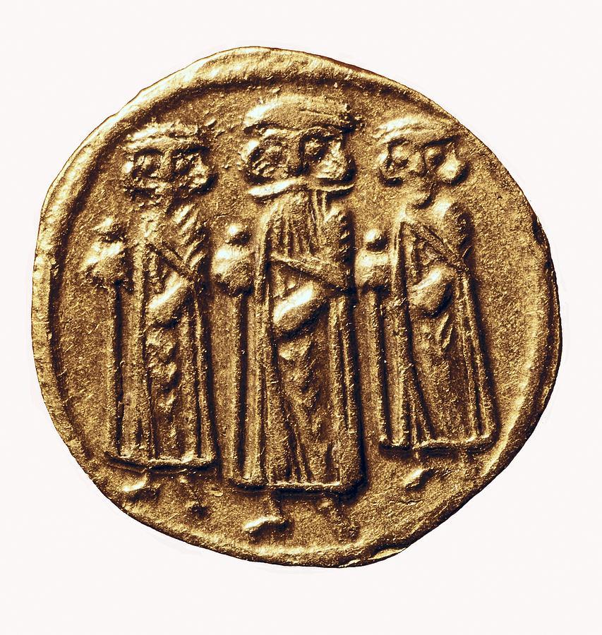 Philately Photograph - Arabian-byzantine Coin. Coin. France by Everett