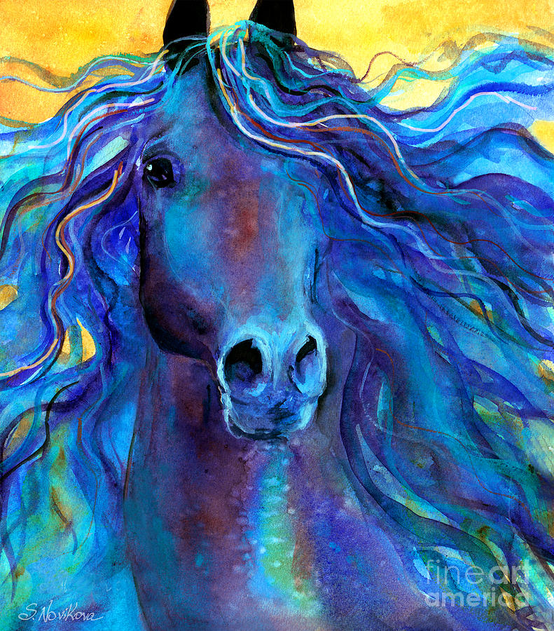 Arabian Horse Painting Painting - Arabian Horse #3  by Svetlana Novikova