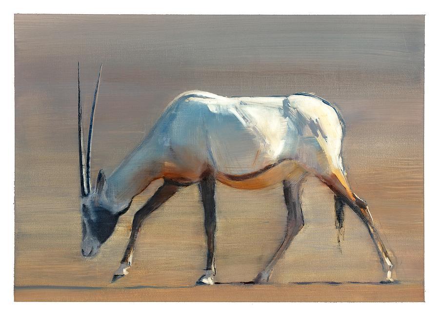 Artist Painting Of Arabian Oryx