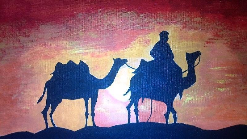 Desert Painting - Arabian Sands by Remya Damodaran