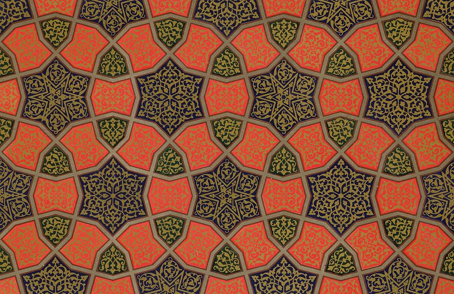 Arabic Drawing - Arabic Decorative Design by Emile Prisse dAvennes