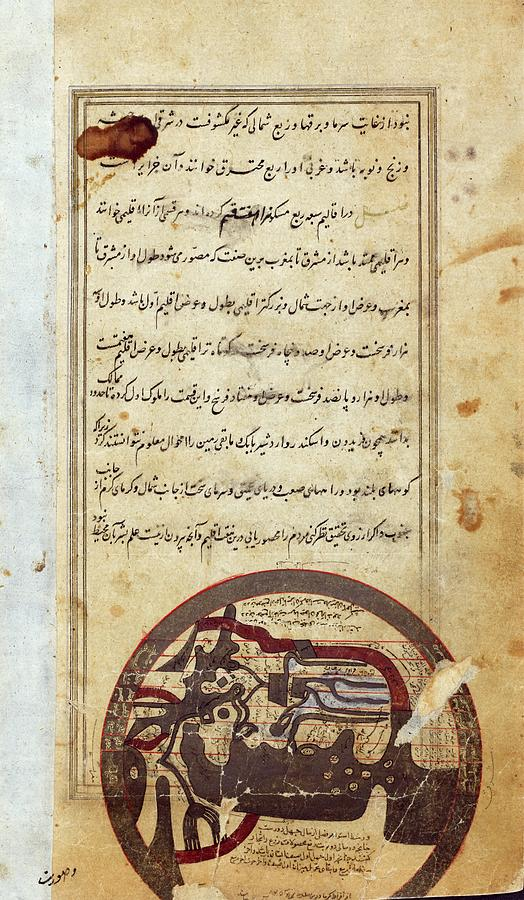 1st Century Photograph - Arabic Map Of The World by Spencer Collection/new York Public Library