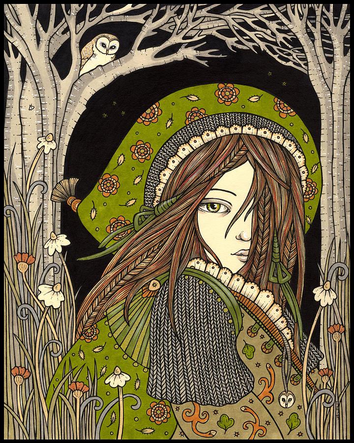 Goddess Drawing - Aran by Anita Inverarity