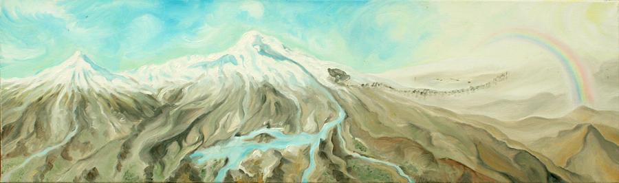 God Painting - Ararat by Sandra Yegiazaryan