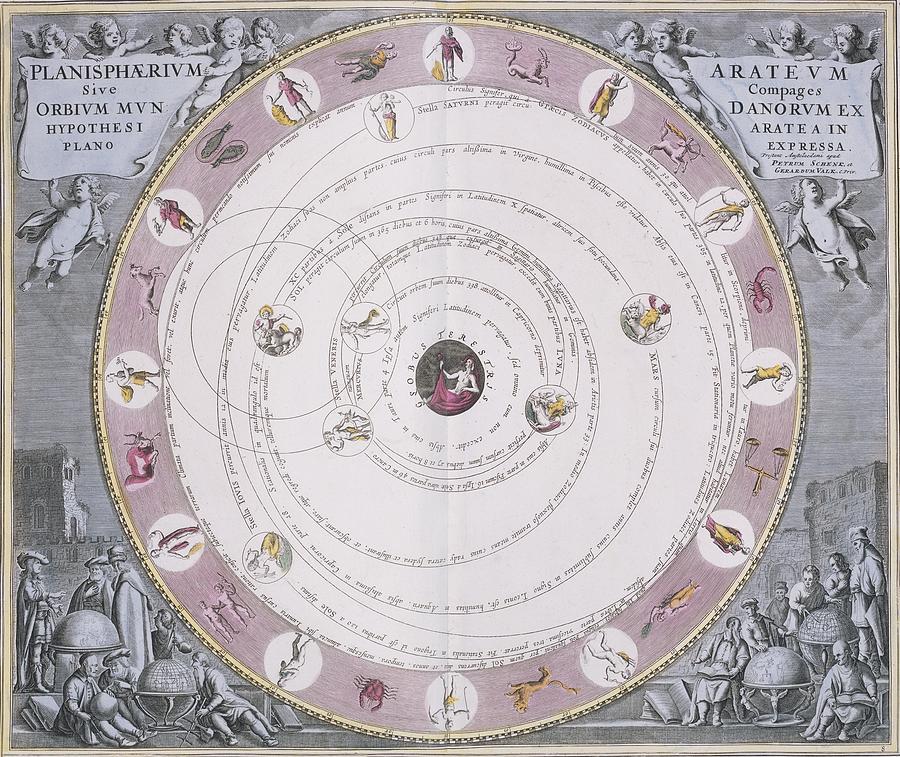 Aratus System Photograph - Aratus Planisphere, 1708 by Science Photo Library