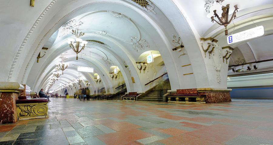 Arbatskaya Metro Photograph by Mordolff