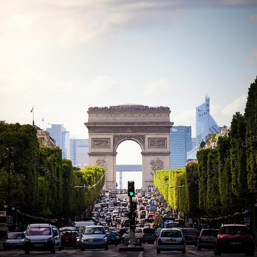 Arc De Triomphe On The Champs Elysées Photograph by Yoann Jezequel Photography