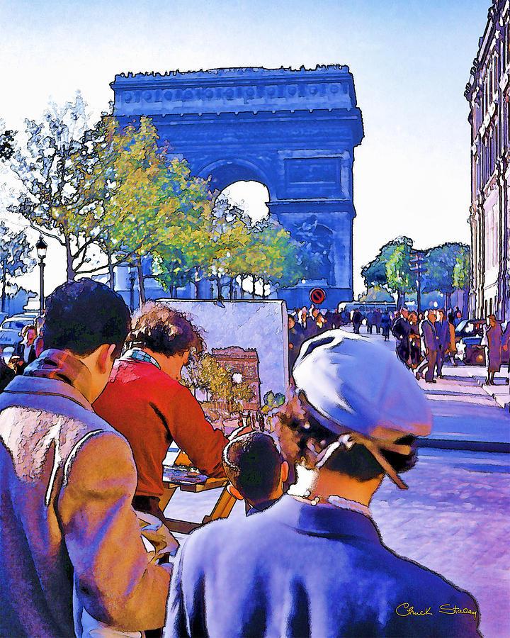 Paris Photograph - Arc De Triomphe Painter by Chuck Staley