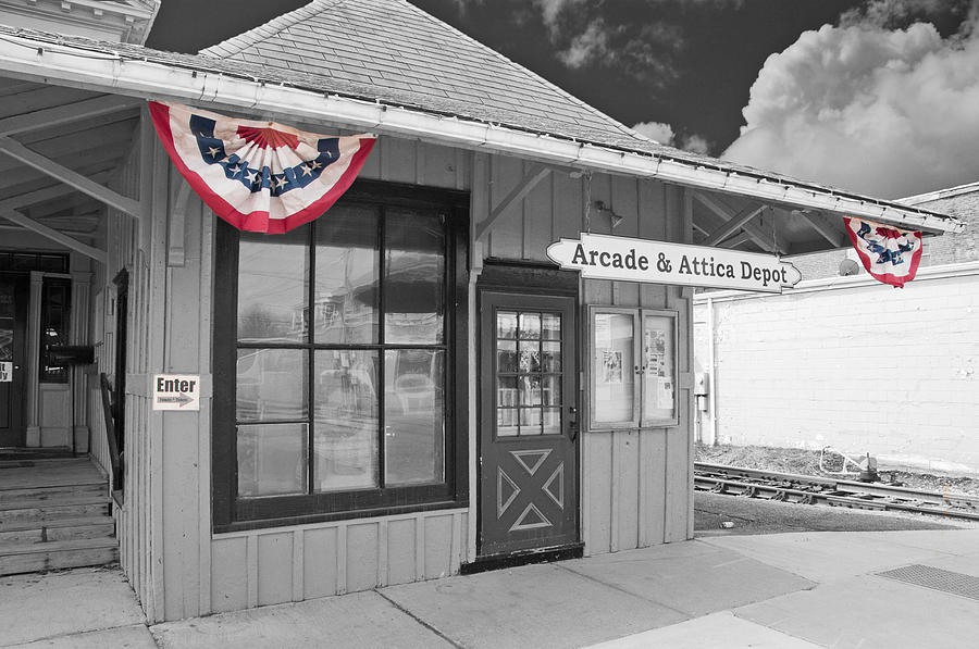Arcade Photograph - Arcade And Attica Depot by Guy Whiteley