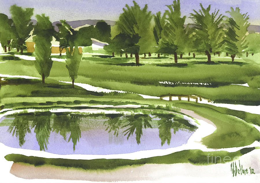 Pond Painting - Arcadia Valley Country Club by Kip DeVore