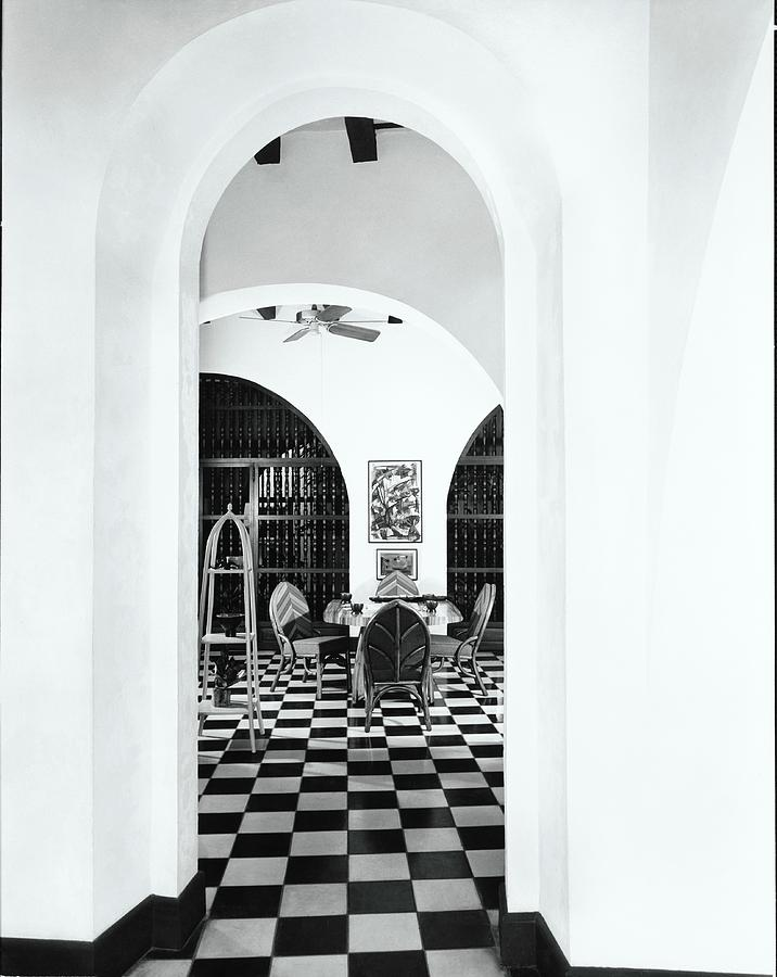 Arch By Dining Room Photograph by Tom Leonard