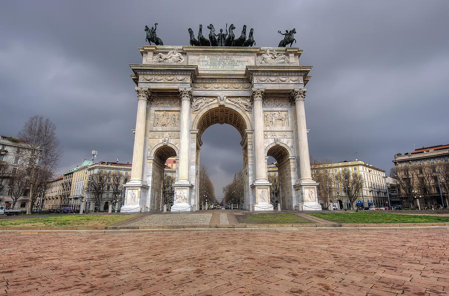 Ancient Photograph - Arch Of Peace Milano by Ioan Panaite