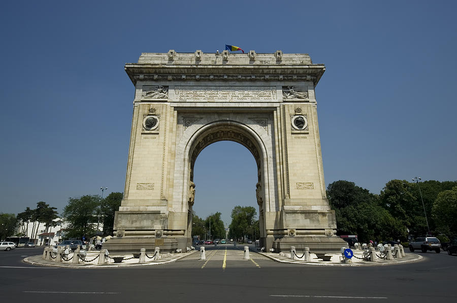 Arc Photograph - Arch Of Triumph by Ioan Panaite