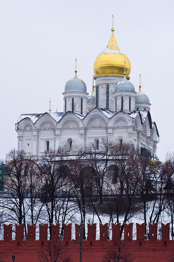 Ancient Photograph - Archangel Cathedral Of Moscow Kremlin - Featured 3 by Alexander Senin